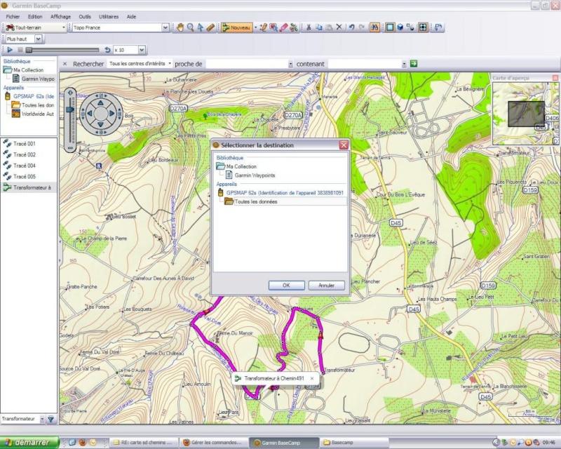 Ulitilisation basecamp pour GPS Base710