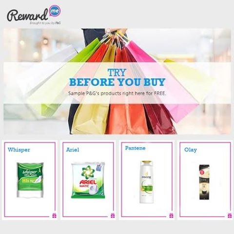 Free MultiSamples of P&G products from RewardMe – Register for FREE 10537111