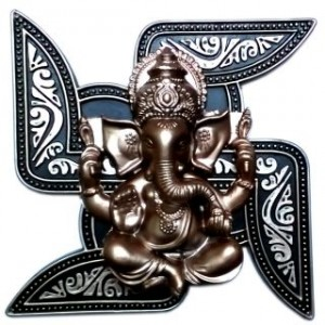 Ethnic Good Luck Swastik Ganesh Wall Hanging Online @ Rs.350 5151-310
