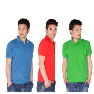 Demokrazy Pack Of 3 Stylish and Trendy Polo Tees For Men @ Rs.399 P3413910