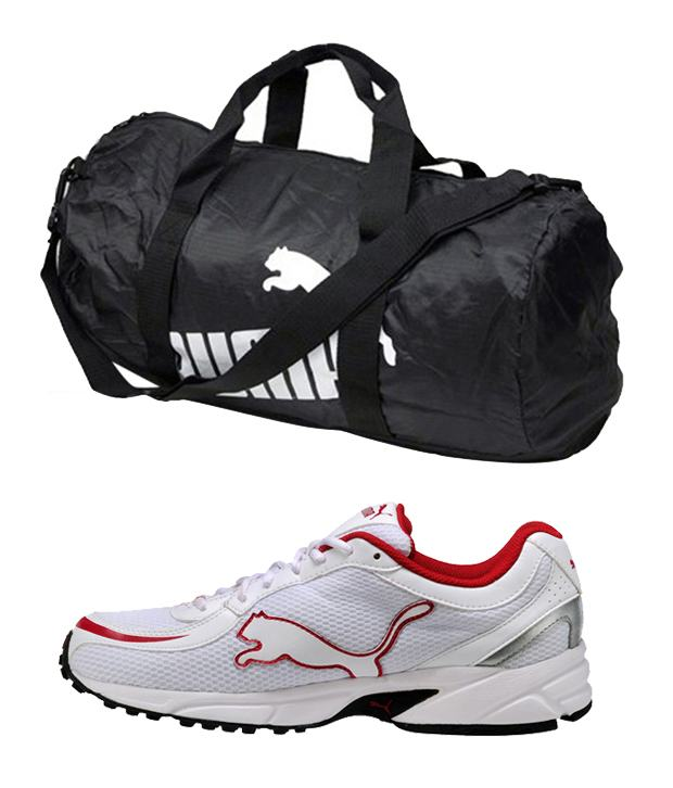 Online Store Puma Fantastic Sports Shoes And Gym Bag Combo @ Rs 1799 Puma-f11