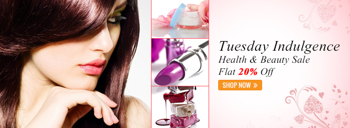 Health & Beauty Sale @ Flat 20% OFF On Tuesday  Slider10