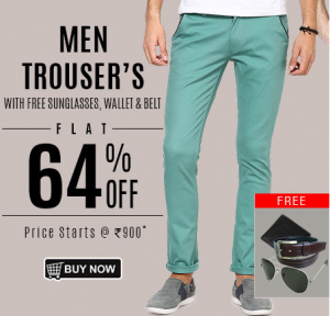 Get Flat 64% OFF On Red Snow Men's Trousers With Free Combo Untitl10