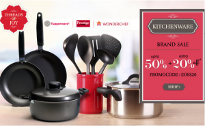 Brand Kitchenware Sale – Get Upto 50% OFF + Extra 20% OFF Untitl17