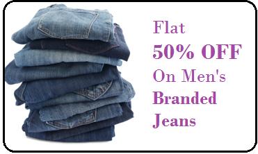 Get Flat 50% OFF On Wide Range Of Men's Branded Jeans Untitl22