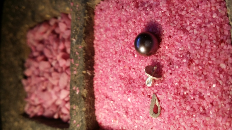 Pendentif calotte argent pour perle 20140848