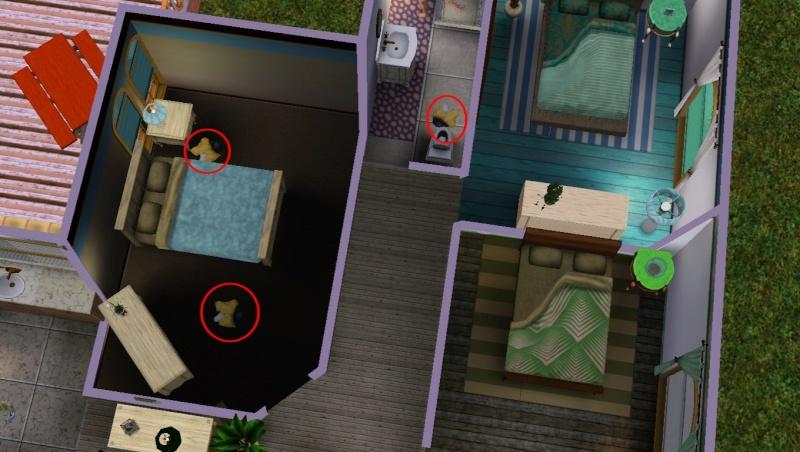 Linges sales dans le jeu de base Sims 3  Screen16