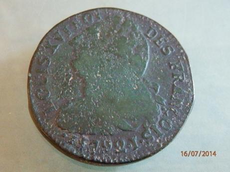 Identification LOUIS XVI 1792 Lettre  Atelier  I ou Y P7164112