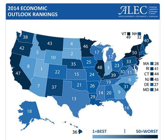 States Economic Rankings Alec-m10
