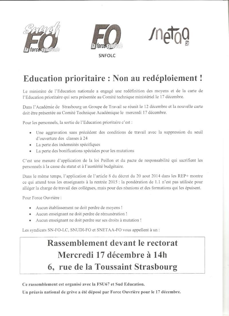 Strasbourg : manifestation le 17 décembre 2014 pour protester contre la nouvelle carte de l'éducation prioritaire. Tract_10