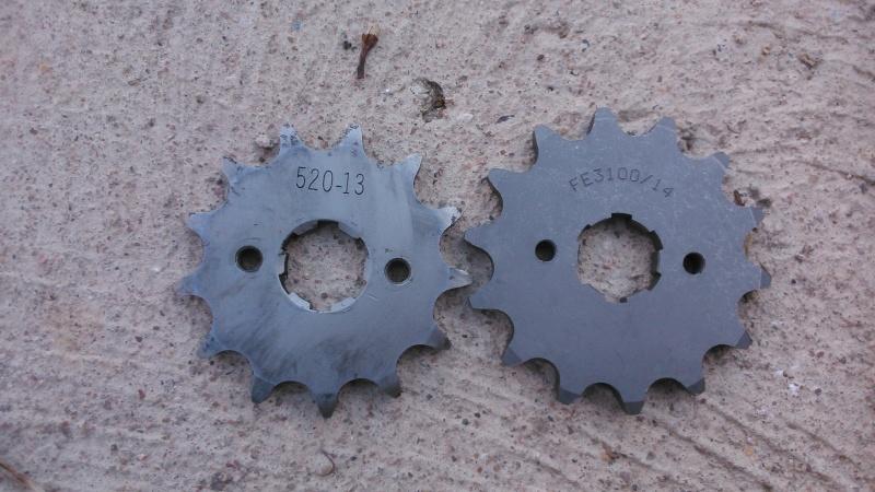 Pignon de 14 dents au lieu du 13 d'origine Dsc_0111