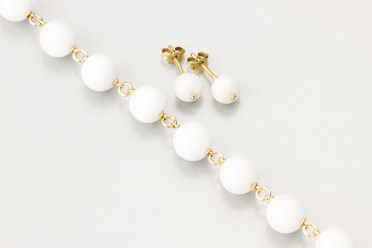 Bracelet et B.O. en jade blanc Atelie10
