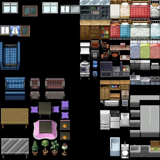[Demande] Tilesets DS porte+fenêtre lycée japonais Rpg_ma10