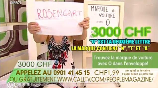 Retour de la CallTV sur TVM3 People12