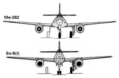 Sukhoi 9 (1946) Me262_11