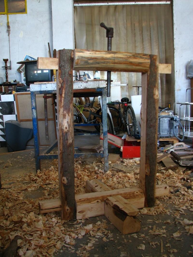 fabrication presse hydraulique maison Presse à huile du0027olive faite maison Img_5010