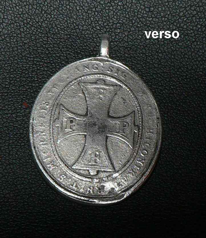 Médaille belge - Joseph Clément de Bavière 1694-1723 - Médaille de la Confrérie de Saint-Michel Med210