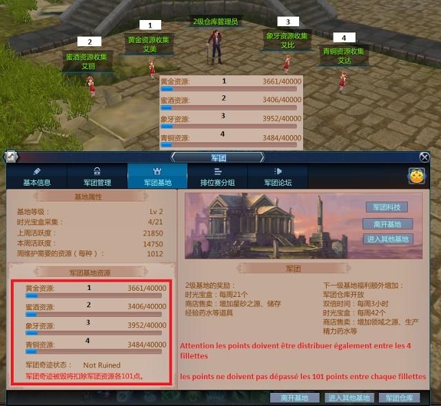 Amélioration du sanctuaire de guilde et xp 4u51012