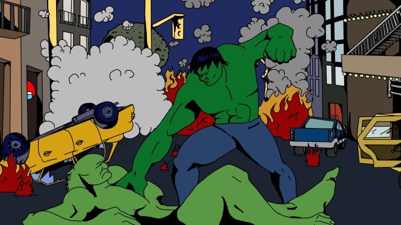 Alé-A lance ses dessins Hulk11