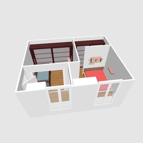 Réaménager 2 chambres en enfilade