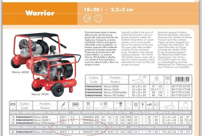 Compresseur 230v mono. vs 400v tri. Compre10