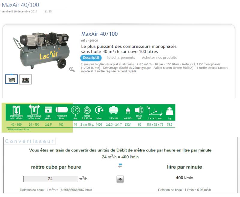 Compresseur 230v mono. vs 400v tri. Maxair10