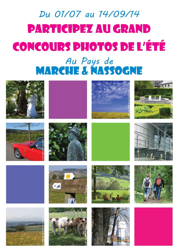 Concours photo de l'été au pays de Marche et Nassogne Affich11
