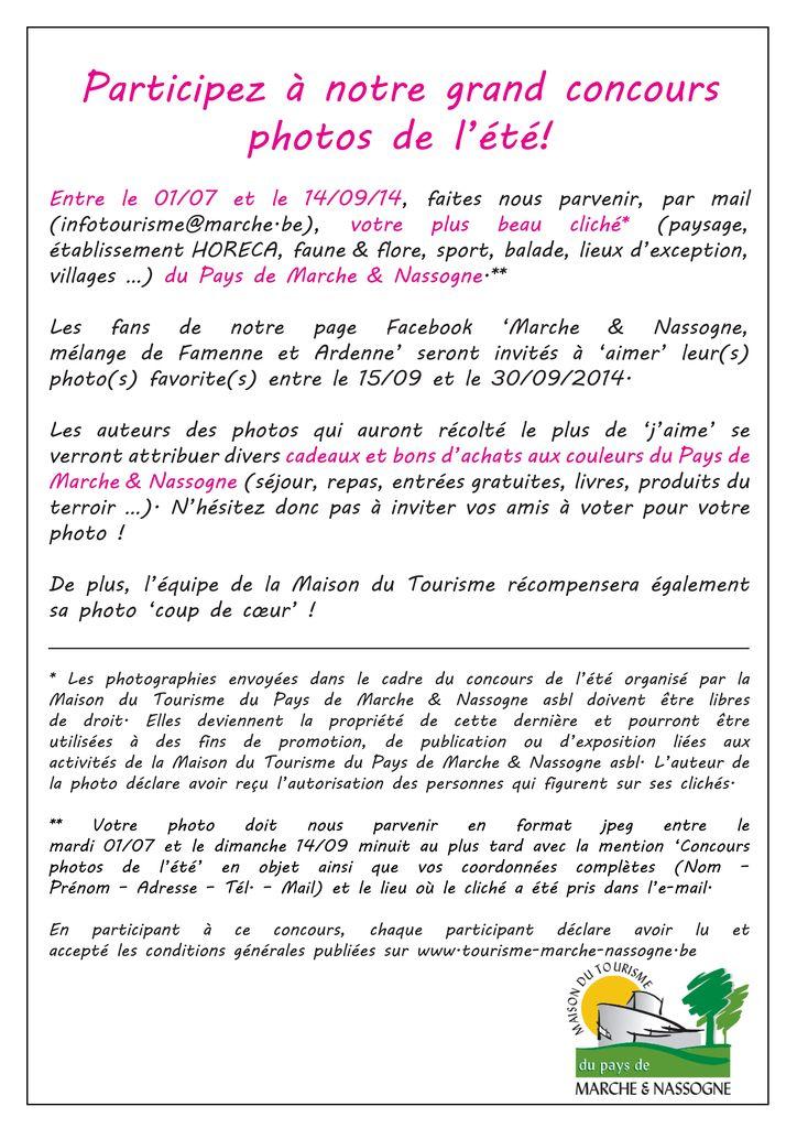 Concours photo de l'été au pays de Marche et Nassogne Affich12