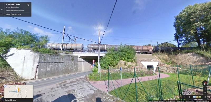 Photos de convois ferroviaires via GoogleStreet. Google36