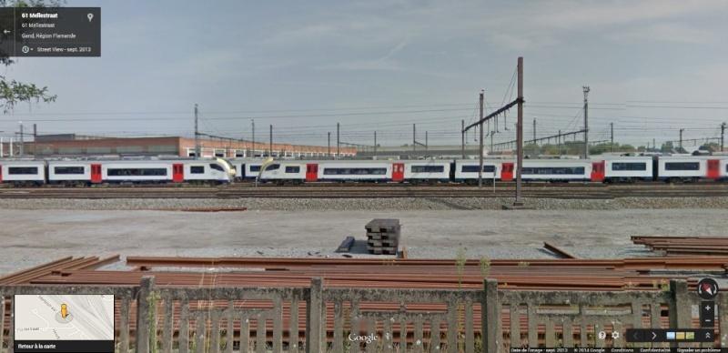 Photos de convois ferroviaires via GoogleStreet. Google49