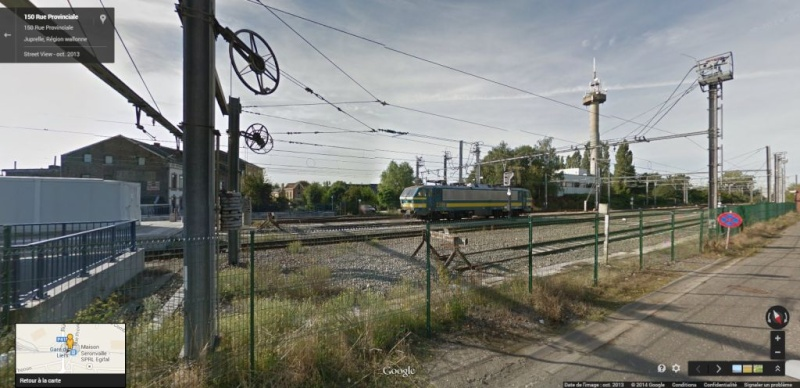 Photos de convois ferroviaires via GoogleStreet. Liers_11