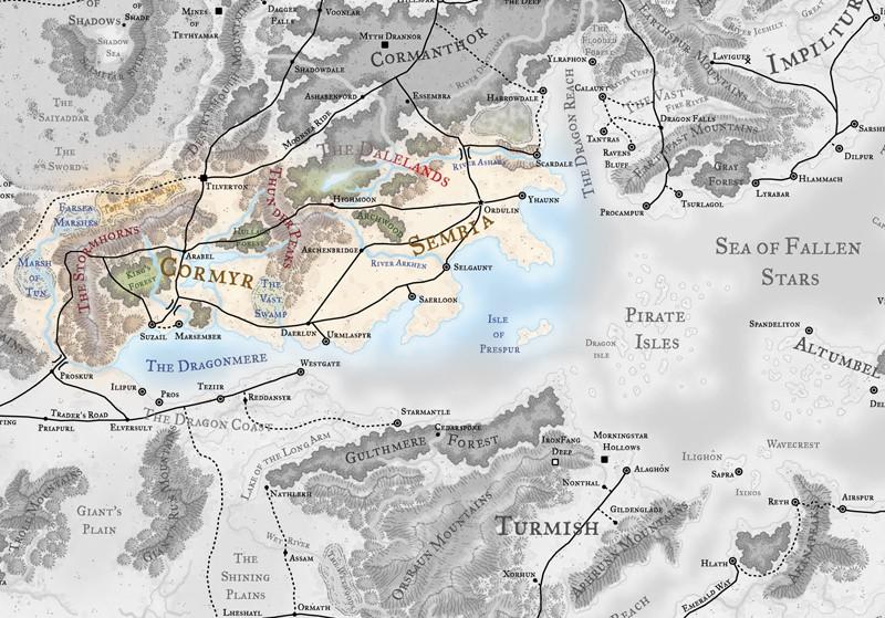 Calendario Faerun.Mapa De Faerun