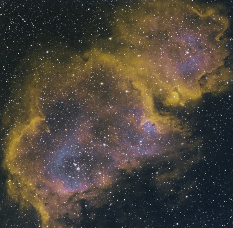 IC 1848 nébuleuse de l'âme en SHO Ic184813