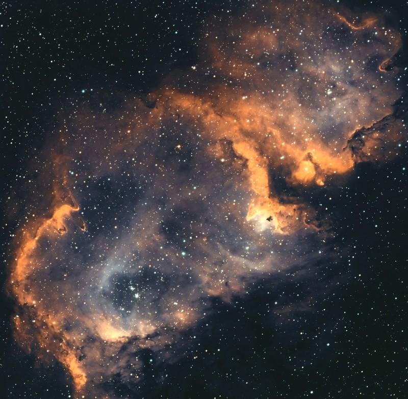 IC 1848 nébuleuse de l'âme en SHO Ic184814