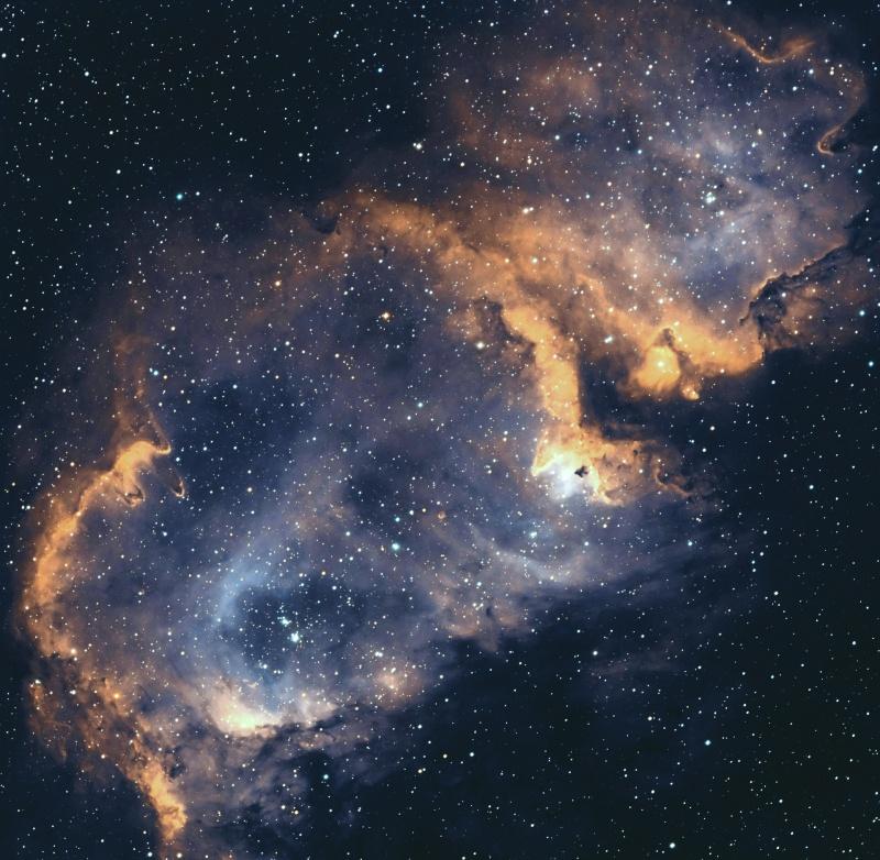IC 1848 nébuleuse de l'âme en SHO Ic184815
