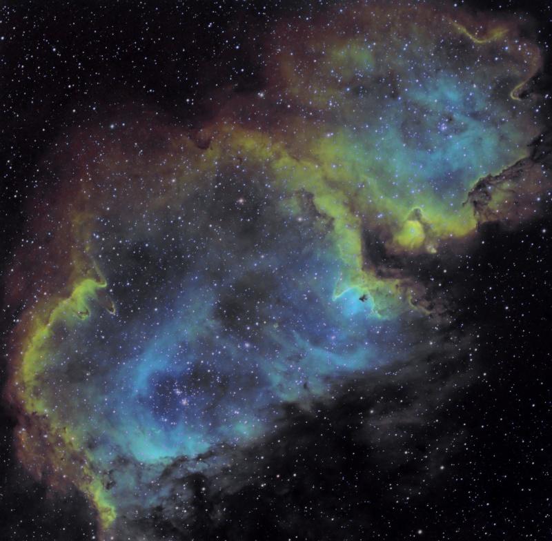 IC 1848 nébuleuse de l'âme en SHO Ic184816