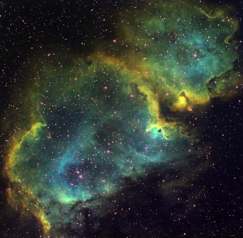 IC 1848 nébuleuse de l'âme en SHO Ic184817