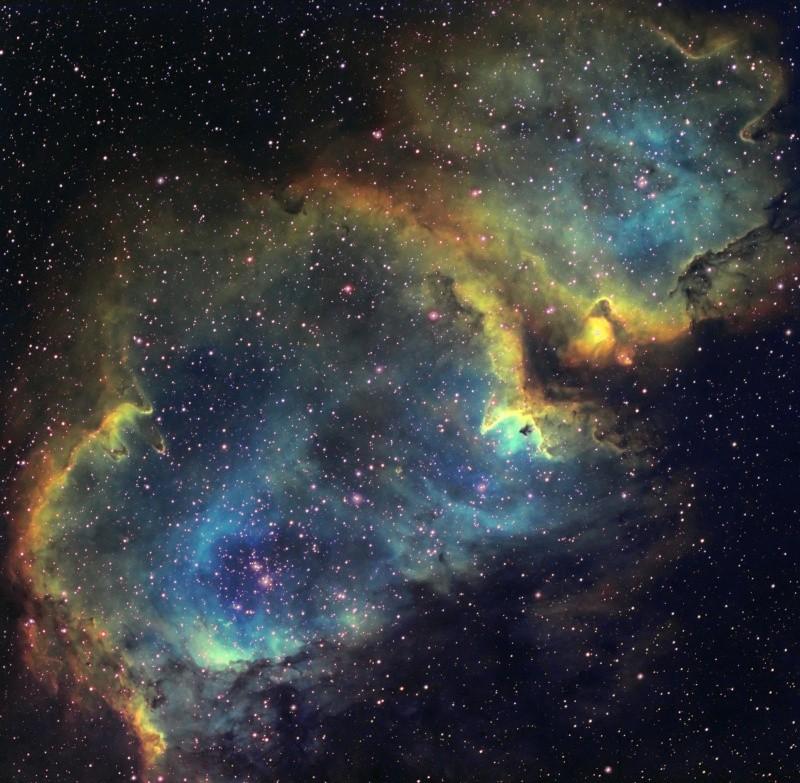 IC 1848 nébuleuse de l'âme en SHO Ic184818