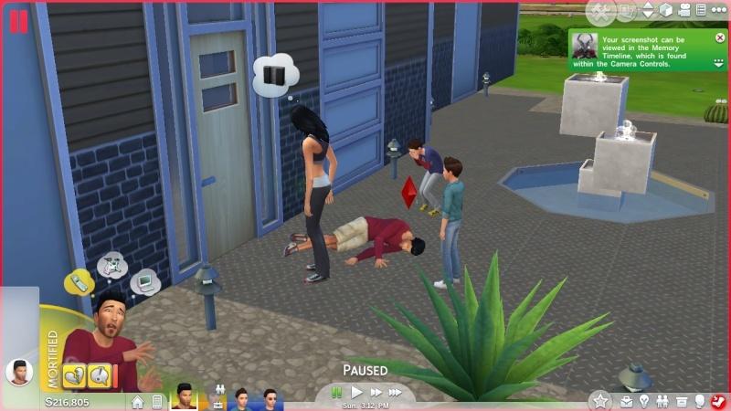 My sim died of embarrassment...  Uten_n10