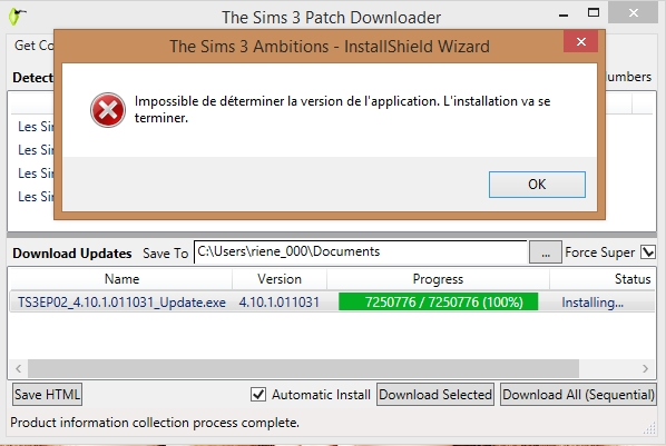 Warning: Update Available Sims 3 Ambitions (crash log analyzer) Sans_t12