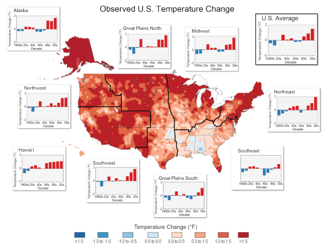 Most of the country is getting hotter Cs_net10