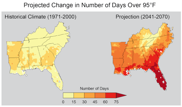 Most of the country is getting hotter Se_day10