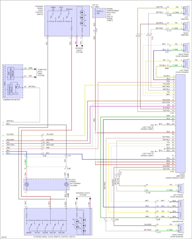 Mitsubishi Lancer GT 2012, recherche wiring diagram center panel unit  Va384123