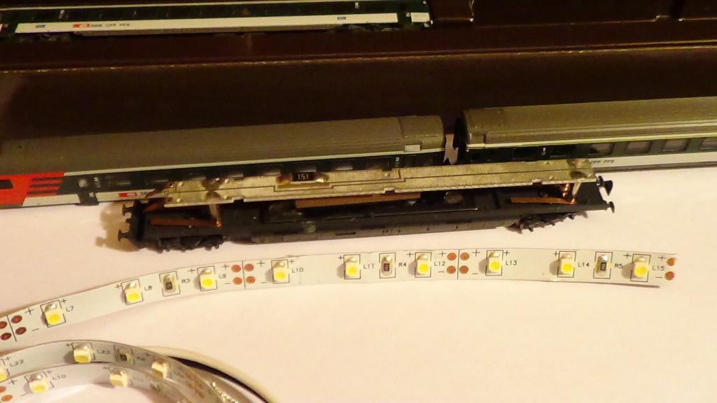 Eclairage intérieur à LEDs de la rame voyageurs 'Push/Pull' des CFF 87455 87455_10