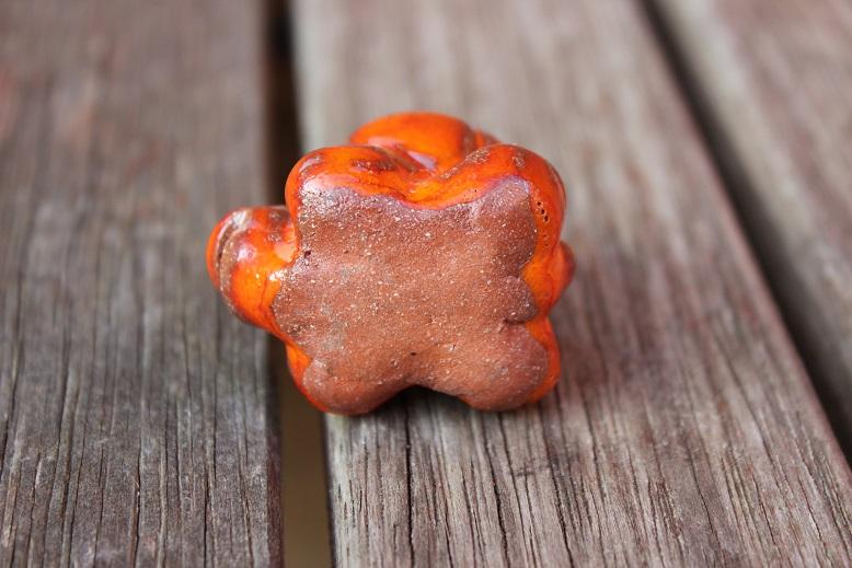 Tiny orange and red glazed tortoise - No Makers Mark Tortoi11