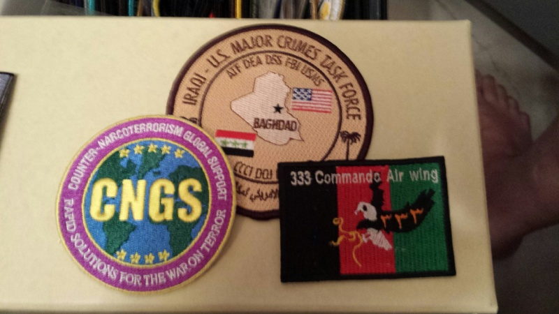 Afghanistan NIU, Counter Drug -Narco, DEA, US Military Narcoterrorism Patches 20140913
