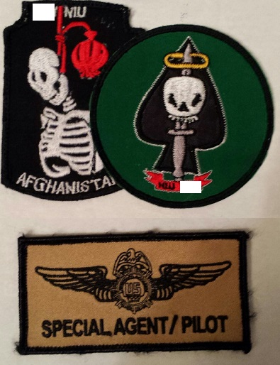Afghanistan NIU, Counter Drug -Narco, DEA, US Military Narcoterrorism Patches Gryu6j10
