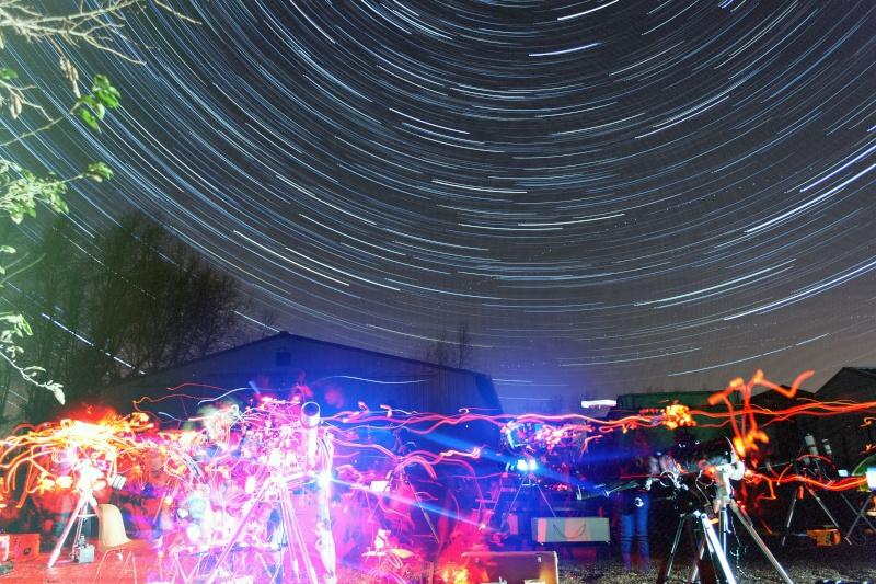 Petit time lapse et photo de la soirée astro du 19-12-2014 Circop10