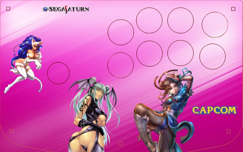 Modding Virtua Stick Saturn HSS-0136  sanwa/seimitsu supergun Pink2411