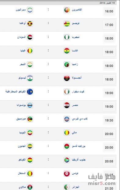 موعد مباريات الدور الرابع لتصفيات كأس الامم الافريقيه 2015 Oua-ou10
